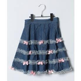 ShirleyTemple スカート(150〜160cm)(サックス)【返品不可商品】