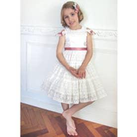 ShirleyTemple レースドッキングドレス(110〜130cm)(オフホワイト)【返品不可商品】