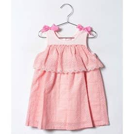 ShirleyTemple 肩リボンワンピース(100〜130cm)(ピンク)【返品不可商品】