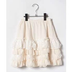 ShirleyTemple フリルスカート(150~160cm)(オフホワイト)【返品不可商品】