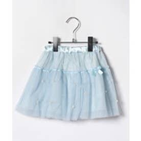 ShirleyTemple スカート(100~130cm)(サックス)【返品不可商品】