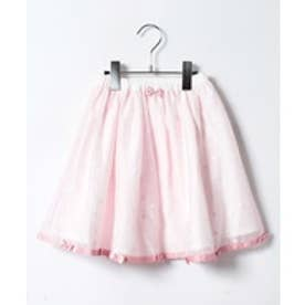 ShirleyTemple ドット柄スカート(100〜130cm)(ピンク)【返品不可商品】