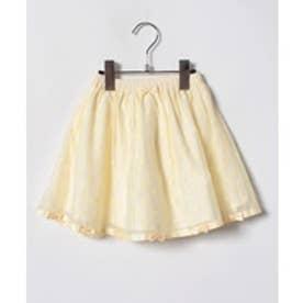 ShirleyTemple ドット柄スカート(100〜130cm)(クリーム)【返品不可商品】