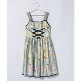 ShirleyTemple シトラスソーダプリントジャンパースカート(150cm)(ミントグリーン)【返品不可商品】