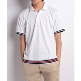 SEVENDAYS=SUNDAY リブラインポロシャツ(ホワイト)【返品不可商品】