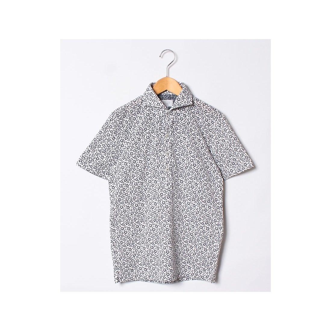 ロコンド 靴とファッションの通販サイトSSENTIAL GARMENT MEN'S BIGI カノコ素材ポロシャツ/フラワープリント 【JAPAN MADE】(ホワイト)【返品不可商品】