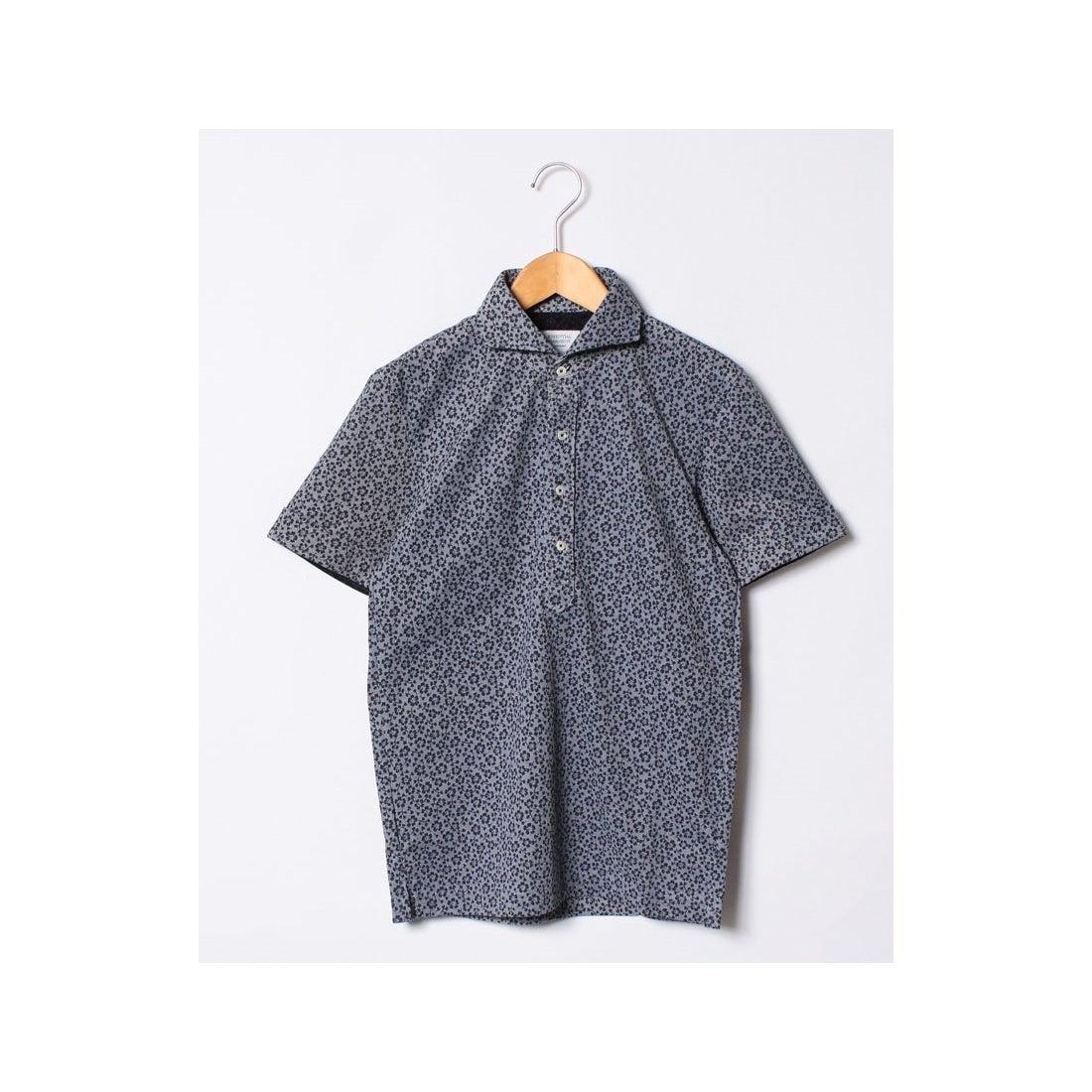 ロコンド 靴とファッションの通販サイトSSENTIAL GARMENT MEN'S BIGI カノコ素材ポロシャツ/フラワープリント 【JAPAN MADE】(ブルー)【返品不可商品】