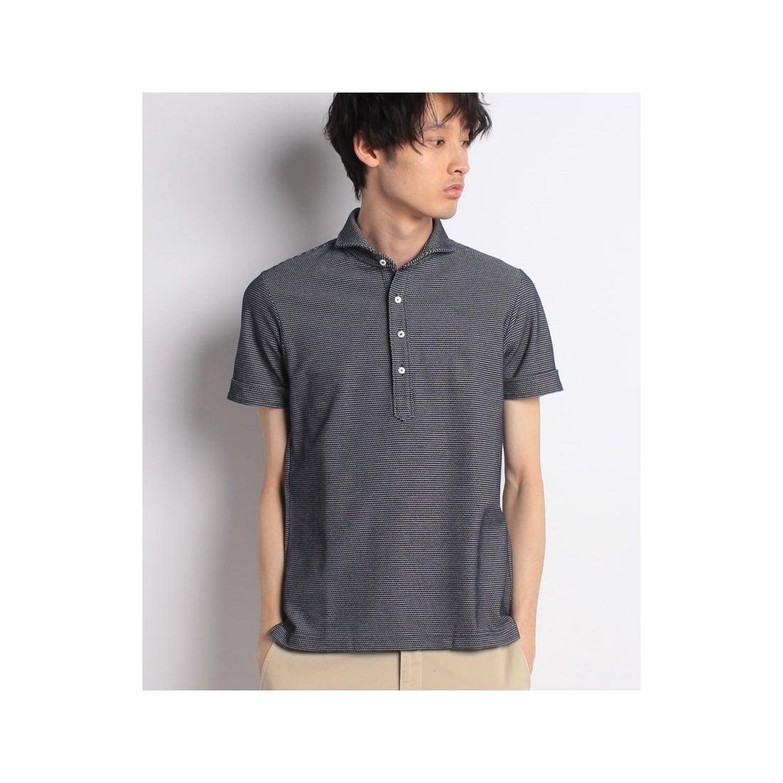 ロコンド 靴とファッションの通販サイトSSENTIAL GARMENT MEN'S BIGI ハニカム素材 ポロシャツ/ボーダー柄 【JAPAN MADE】(ブルー系その他)【返品不可商品】