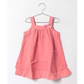 TINKERBELL 女カットボイルジャンバースカート(130〜140cm)(サーモンピンク)【返品不可商品】