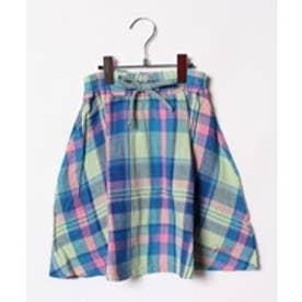 TINKERBELL GFチェックスカート(140~160cm)(グリーン系)【返品不可商品】