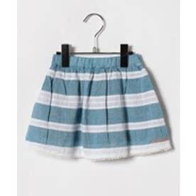 TINKERBELL 女楊柳ボーダースカート(90〜120cm)(エメラルド)【返品不可商品】