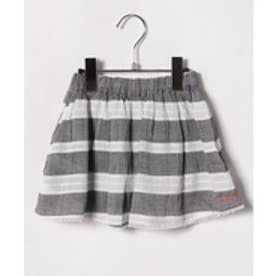 TINKERBELL 女楊柳ボーダースカート(90〜120cm)(ブラック)【返品不可商品】