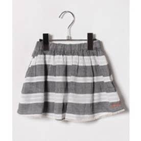 TINKERBELL 女楊柳ボーダースカート(130〜140cm)(ブラック)【返品不可商品】