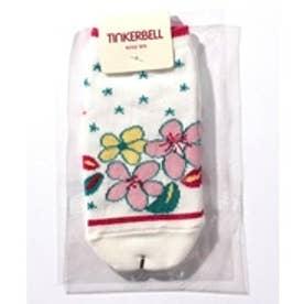 TINKERBELL 女花柄スニーカーソックス(11〜22cm)(レッド)【返品不可商品】