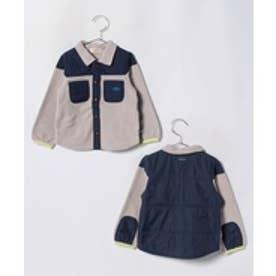 TINKERBELL 男児 フリースシャツ型ジャケット(90~120cm)(ライトグレー)【返品不可商品】