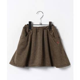 TINKERBELL 千鳥ニット インパン付キュロットスカート(100〜120cm)(キャメル)【返品不可商品】