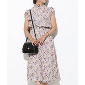 a3b9a3ed1525e ViS 衿シャーリング花柄ワンピース(ホワイト系(12)) 返品不可商品  ¥4