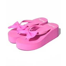 VacaSta Swimwear(Kids) BENETTON ビックリボン厚底サンダル(ピンク)【返品不可商品】