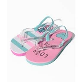 VacaSta Swimwear(Kids) BENETTON 左右非対称柄 ビーチサンダル(ピンク)【返品不可商品】