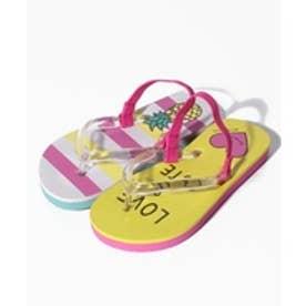 VacaSta Swimwear(Kids) BENETTON 左右非対称柄 ビーチサンダル(イエロー)【返品不可商品】