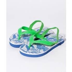 VacaSta Swimwear(Kids) California Shore ボタニカル柄 ビーチサンダル(ネイビー)【返品不可商品】