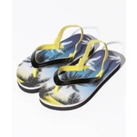 VacaSta Swimwear(Kids) California Shore ヤシの木柄 ビーチサンダル(ブラック)【返品不可商品】