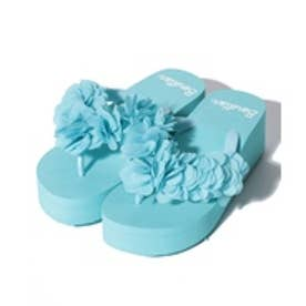 VacaSta Swimwear(Kids) BENETTON スモールフラワー 厚底サンダル(サックス)【返品不可商品】
