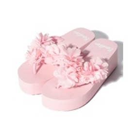 VacaSta Swimwear(Kids) BENETTON スモールフラワー 厚底サンダル(ピンク)【返品不可商品】