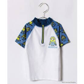 VacaSta Swimwear(Kids) 【セットアップ対応商品】MINION 男児長袖ラッシュガード(ホワイト)【返品不可商品】