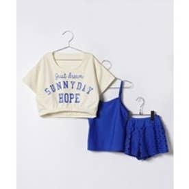 VacaSta Swimwear(Kids) ReyesReyesタンキニ4点SET(ホワイト)【返品不可商品】