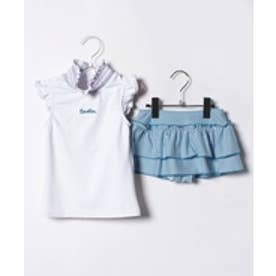 VacaSta Swimwear(Kids) BENETTONスカパンタイプタンキニ(ホワイト)【返品不可商品】