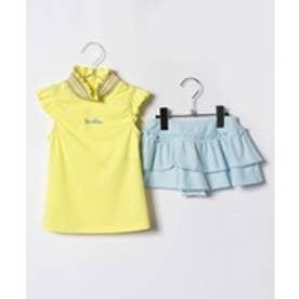 VacaSta Swimwear(Kids) BENETTONスカパンタイプタンキニ(イエロー)【返品不可商品】