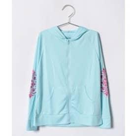 VacaSta Swimwear(Kids) ReyesReyes女児長袖UVパーカー(サックス)【返品不可商品】