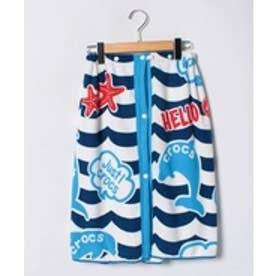 VacaSta Swimwear(Kids) CROCSイルカ柄マイクロファイバー巻きタオル60cm(ネイビー)【返品不可商品】
