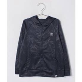 VacaSta Swimwear(Kids) FILA男児長袖UVパーカー(ネイビー)【返品不可商品】