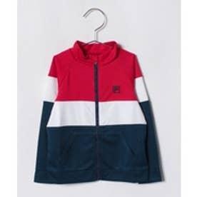 VacaSta Swimwear(Kids) FILA男児長袖UV3色ボーダーウェア(レッド)【返品不可商品】
