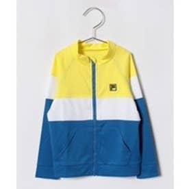 VacaSta Swimwear(Kids) FILA男児長袖UV3色ボーダーウェア(イエロー)【返品不可商品】