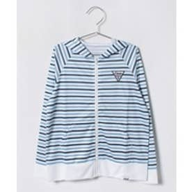 VacaSta Swimwear(Kids) FILA男児長袖UVボーダーパーカー(サックス)【返品不可商品】