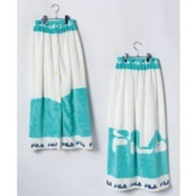 VacaSta Swimwear(Kids) FILA 波風ロゴふわもこ巻きタオル100cm(ミント)【返品不可商品】