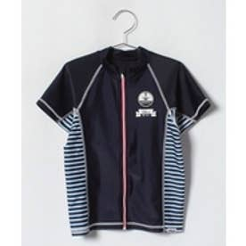 VacaSta Swimwear(Kids) FILA男児サイドボーダーラッシュガード(ネイビー)【返品不可商品】