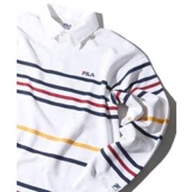 WEGO FILA別注ラガーシャツ(ホワイト)【返品不可商品】