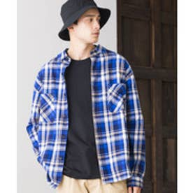 WEGO 【セットアップ対応商品】タータンチェックネルシャツ(ブルー系)【返品不可商品】