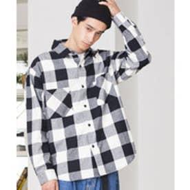 WEGO バッファローチェックネルシャツ(ホワイト系)【返品不可商品】