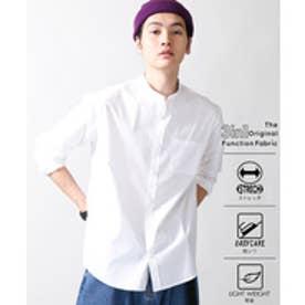 WEGO 3メリットバンドカラーシャツ(ホワイト)【返品不可商品】