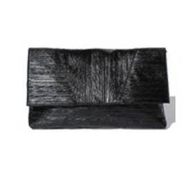 YECCA VECCA メタルクラッチバッグ(ブラック)