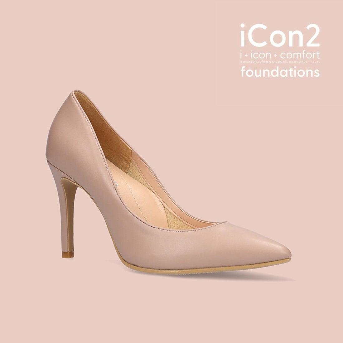 f874dd0dc63270 マミアン MAMIAN iCon2 Foundations 9cmヒールポインテッドトゥヌードベージュパンプス/F970 (クリーミィベリー)  -靴&ファッション通販 ロコンド〜自宅で試着、 ...