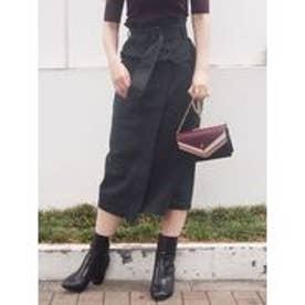 MERCURYDUO コルセットベルト付タイトスカート(ブラック)