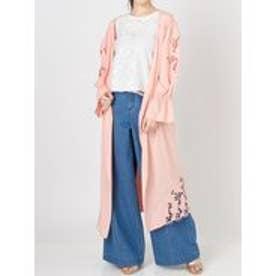 MERCURYDUO カットワーク刺繍ロングガウン(ピンク)
