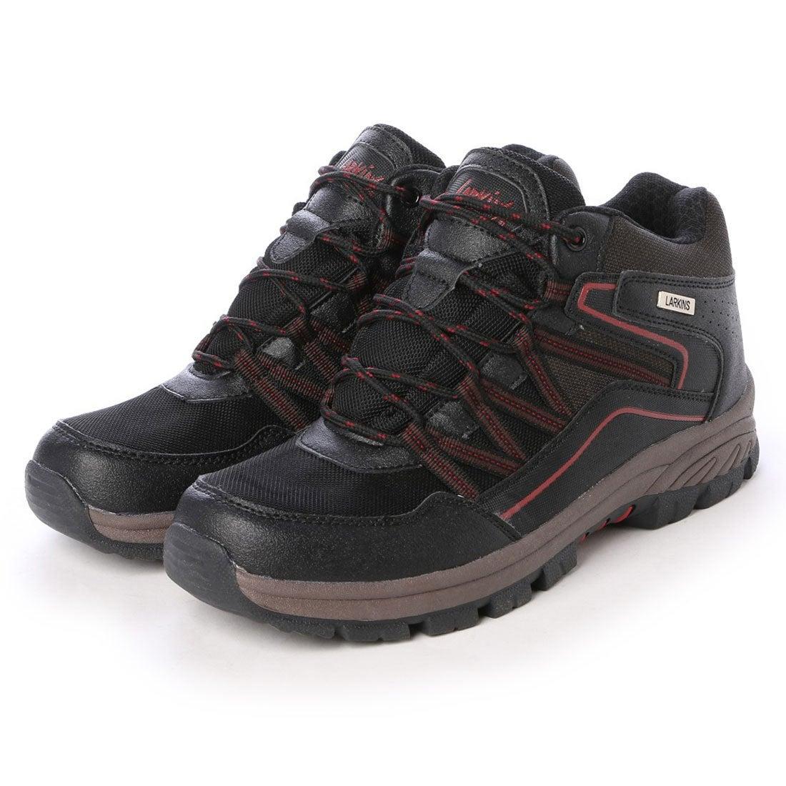 ラーキンス LARKINS 6cm・6時間防水 トレッキングシューズ ハイカット (ブラック) ,靴とファッションの通販サイト ロコンド