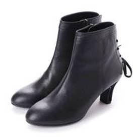 マリー ファム Marie femme バックレースアップショートブーツ(ブラック)